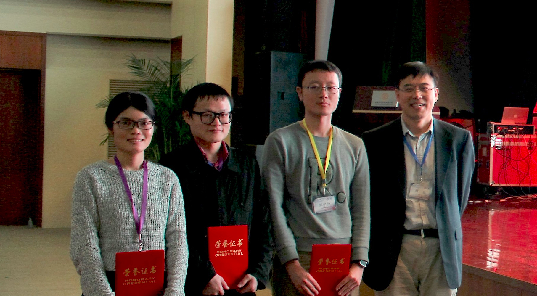Xiao Ding, Tianming Luo and Xueheng Guo Won Best Elevator-Speech Awards at 2016 FAIR/Retreat Symposim